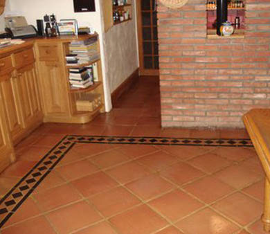 fully restored terracotta tiles