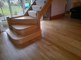 re size floor sanding with stairs