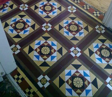 re sized tiled floor