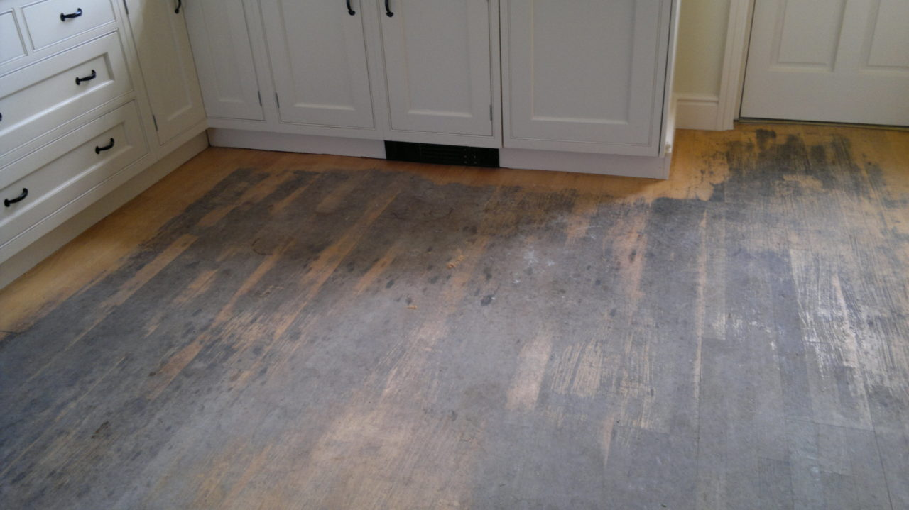 heavily worn floor