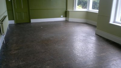 dull dark floor