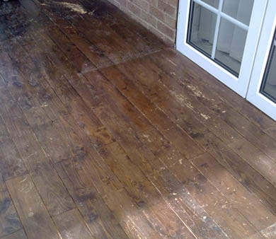 damaged wooden floor