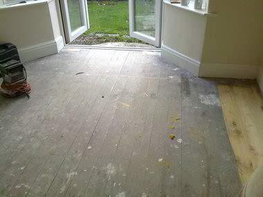 before floor restore