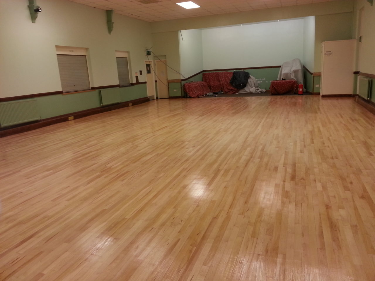 large hall floor restoration