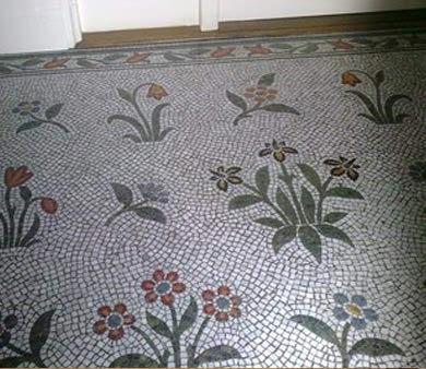 mosiac floor
