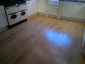 re sized floor sanding kitchen