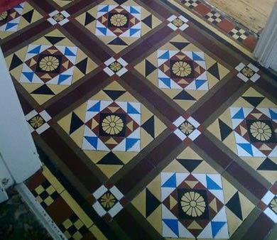 re sized tiled floor