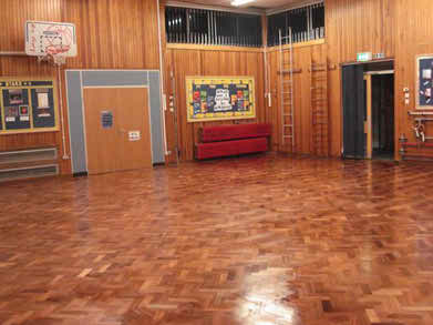 school hall after
